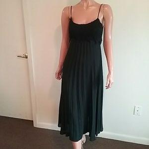 Black Pleated Cocktail Dress Sz 6